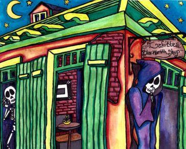 spooky blacksmith shop