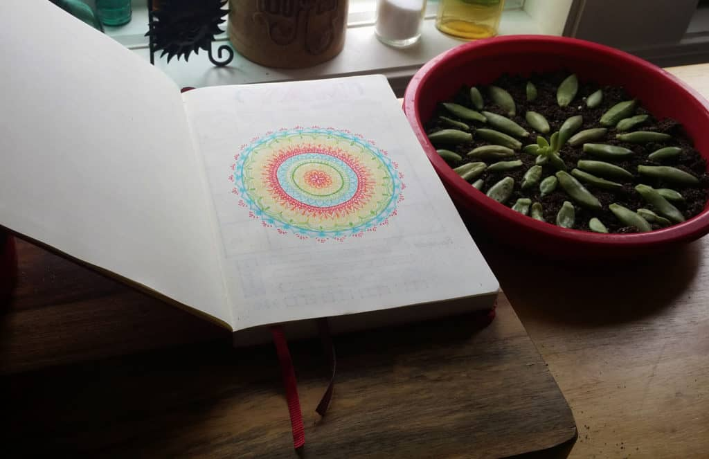 How I Conquered the First Page of my Bullet Journal first page art | Littlecoffeefox.com