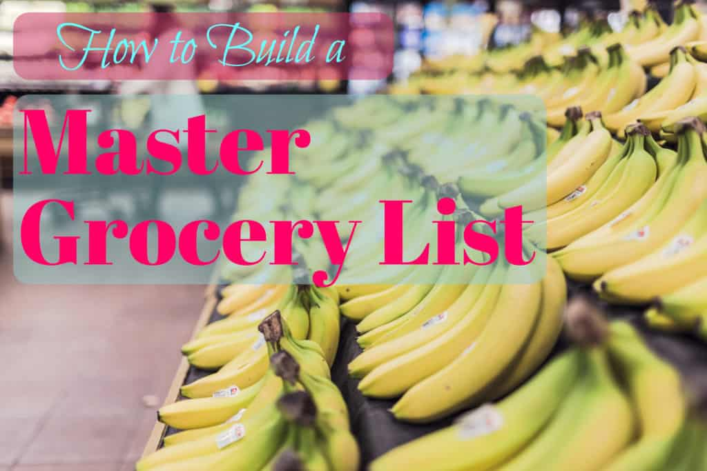 How to Build a Master Grocery List to Make Shopping Quick \ Easy - grocery template printable