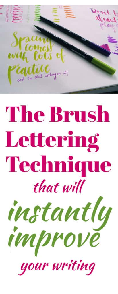 The Brush Lettering Technique That Can Instantly Improve Your - work thank you note