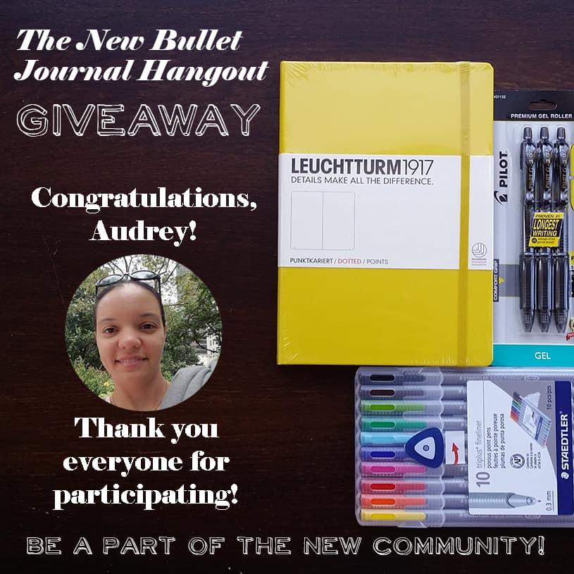 Bullet Journal Hangout Instagram WINNER