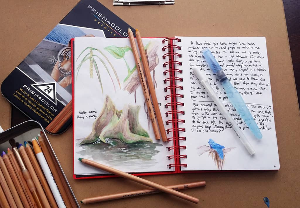 How to Use Watercolors in Your Planner - A Simple Water Brush Pen - lined papers