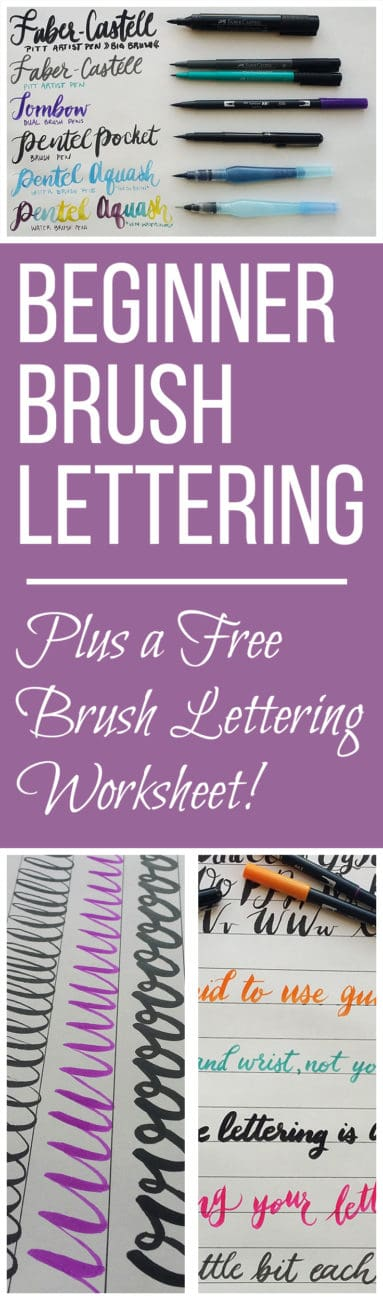 Beginner Brush Lettering - The Basic Tools and Techniques - free resume cover letters