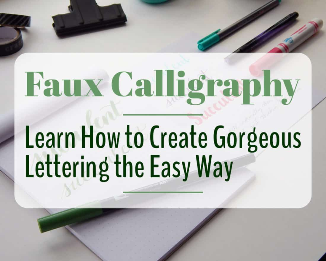 Calligraphy Input Online Faux Calligraphy Learn How To Create Gorgeous Lettering The Easy