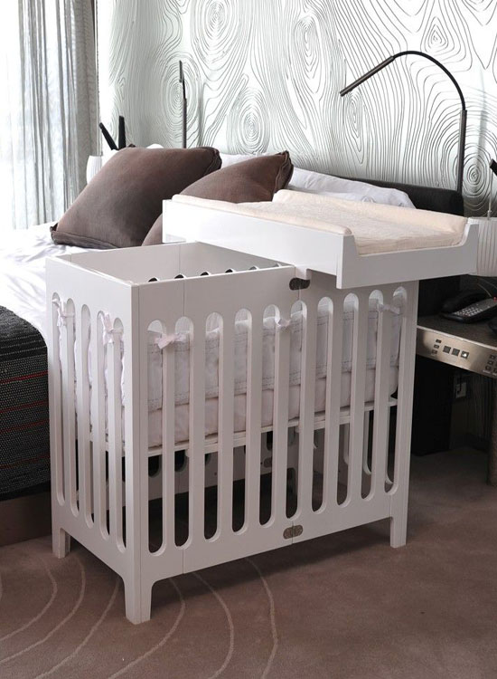 Lit Convertible Mini Crib Options For Small Spaces | Little Crown Interiors