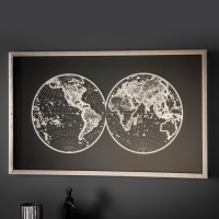 Atlas Framed Wall Art  Little Feather Interiors