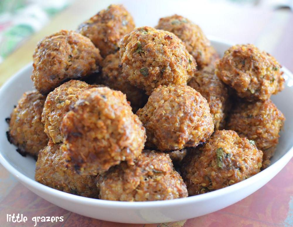 Beef, Apple and Quinoa Balls