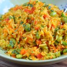 Little Grazers Edamame and Vegetable Pilaf -gluten free, dairy free, fussy eaters, blw, baby led weaning, family meals, kids meals, vegetarian