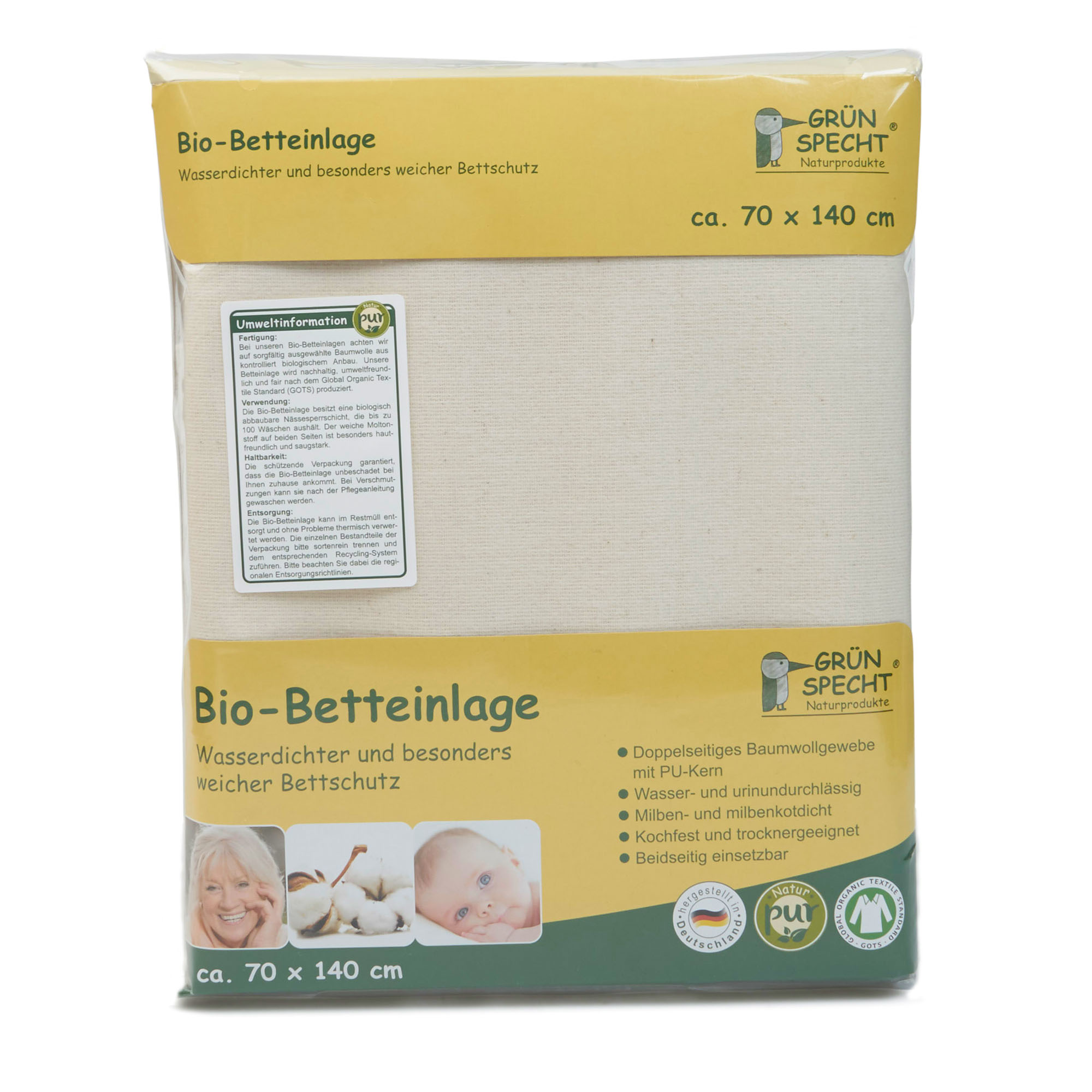 Grünspecht Bio Betteinlage Littlegreenie