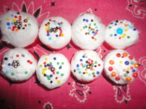 Doll cupcakes! Yum!