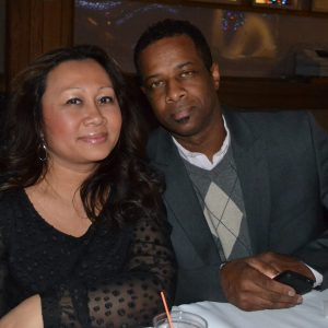 Film producer Mychal Mitchell and his wife Joanna in Minnesota.
