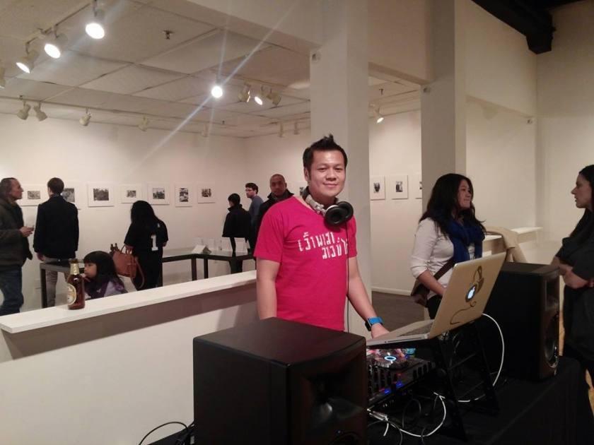 DJ Paradoxx at the turn tables