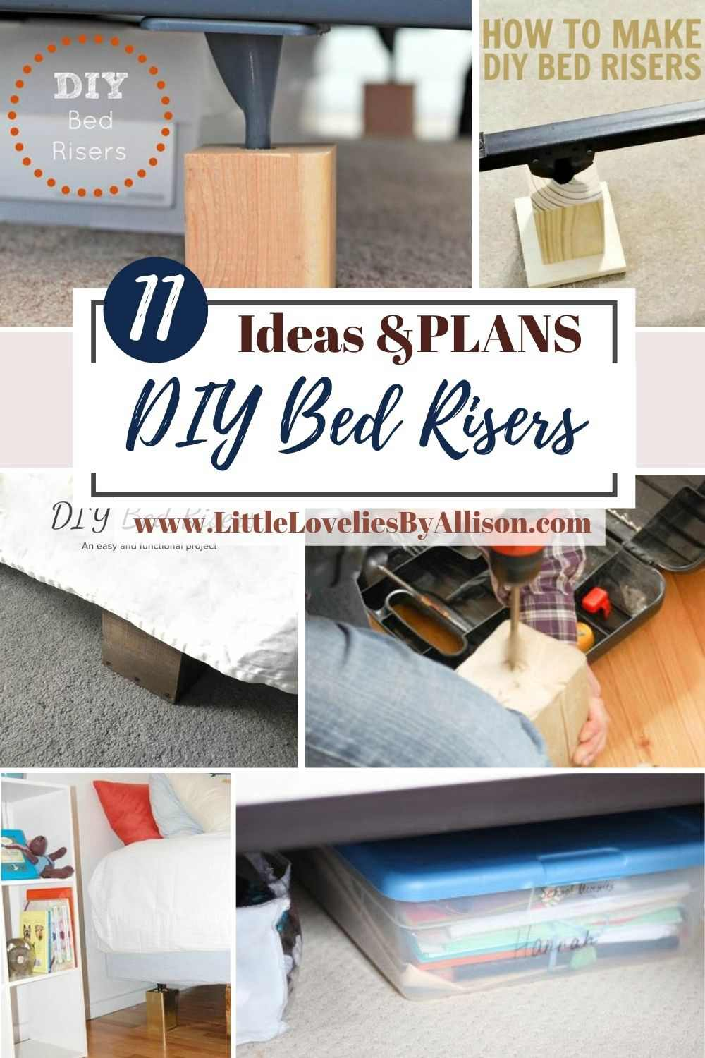 11 Convenient Diy Bed Risers For Easy Implemetation