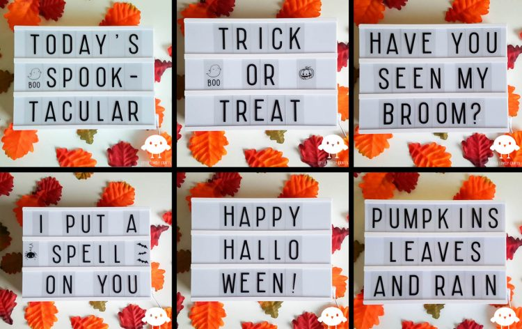 Birthday Quotes For Love Lightbox Ideas For Halloween – Little Lovely Crafts
