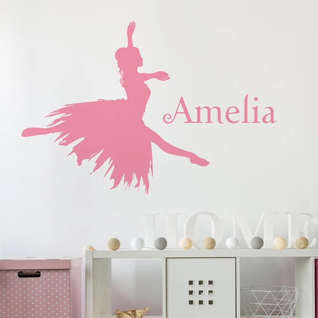 Personalised Sticker Ballerina Personalised Name Wall Sticker