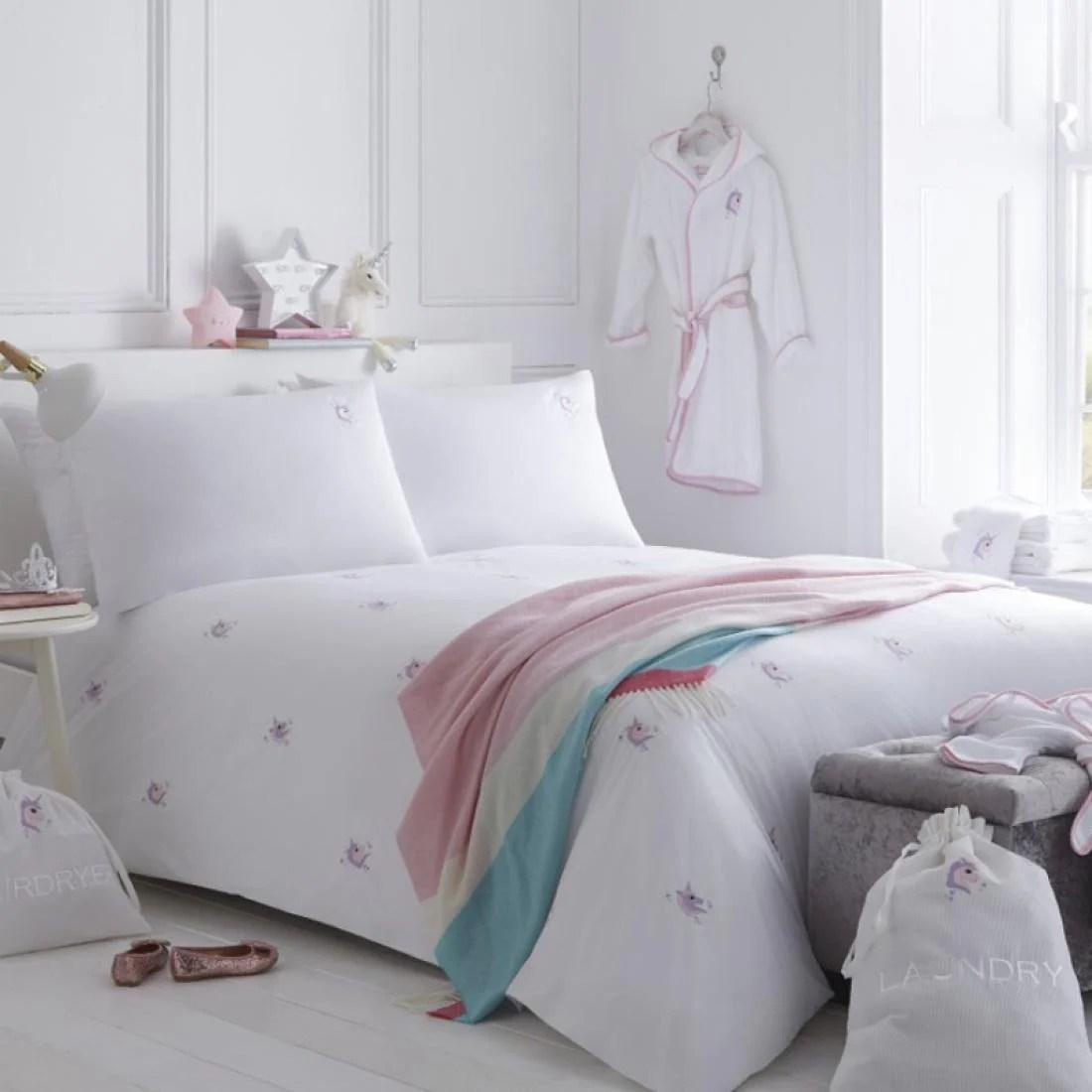 Cot Bedding Australia Organic Unicorn Duvet Set