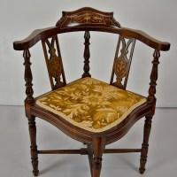 Edwardian corner chair  JohnCowderoyAntiques.co.uk