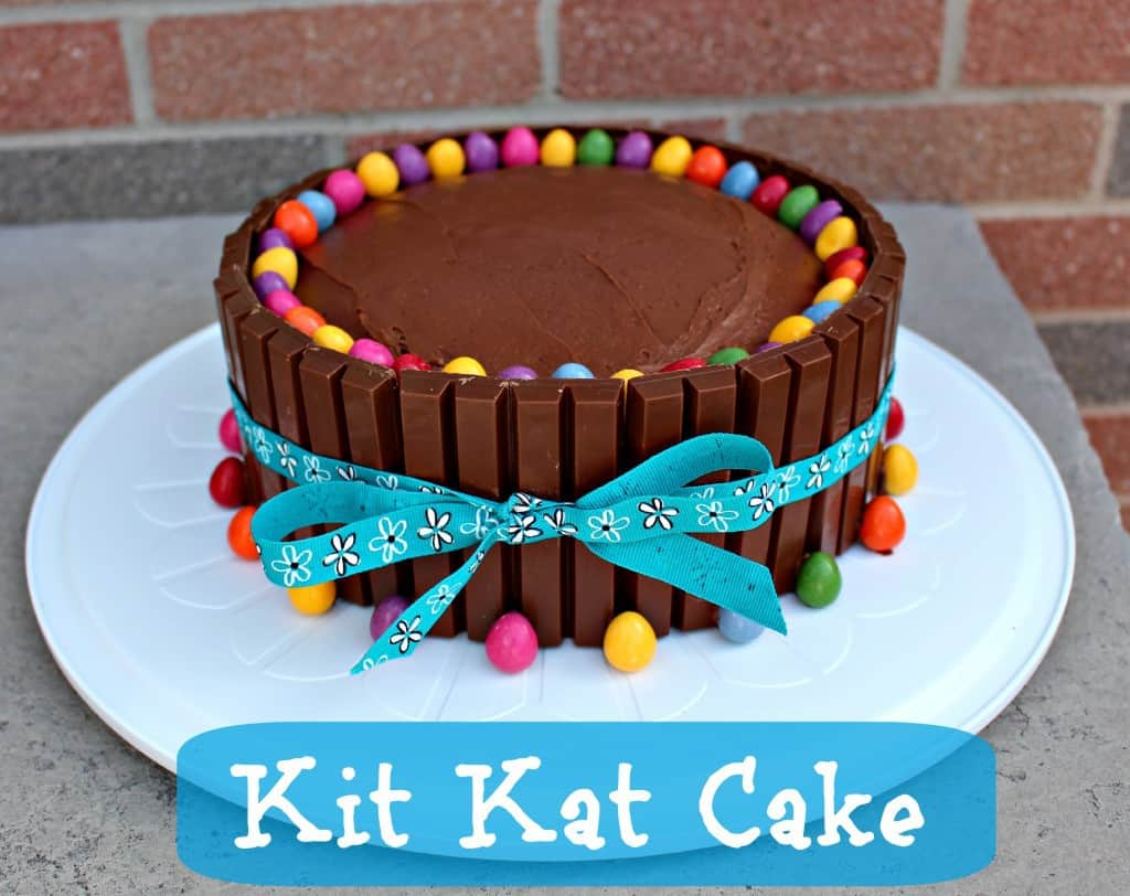 Kitkat Kuchen Mit Smarties Kit Kat Cake Recipe Easy Birthday Cake Idea