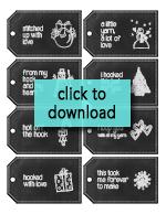 Handmade Chalkboard Christmas Gift Tags for Crocheters | Free Printable from Little Monkeys Crochet
