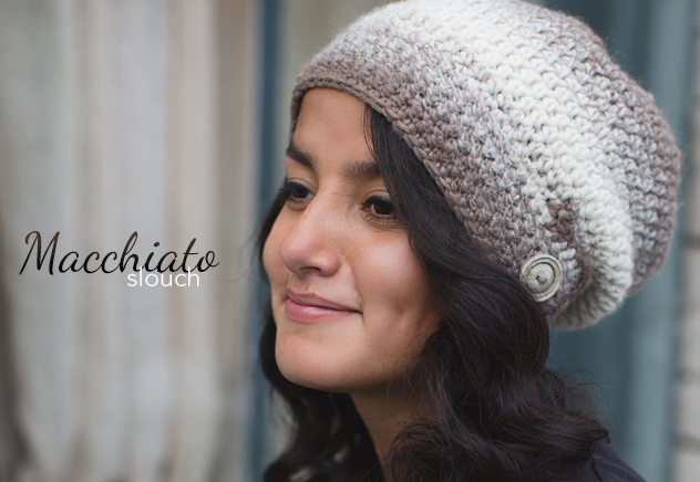 Macchiato Slouch Crochet Hat | Free Slouchy Hat Crochet Pattern by Little Monkeys Crochet