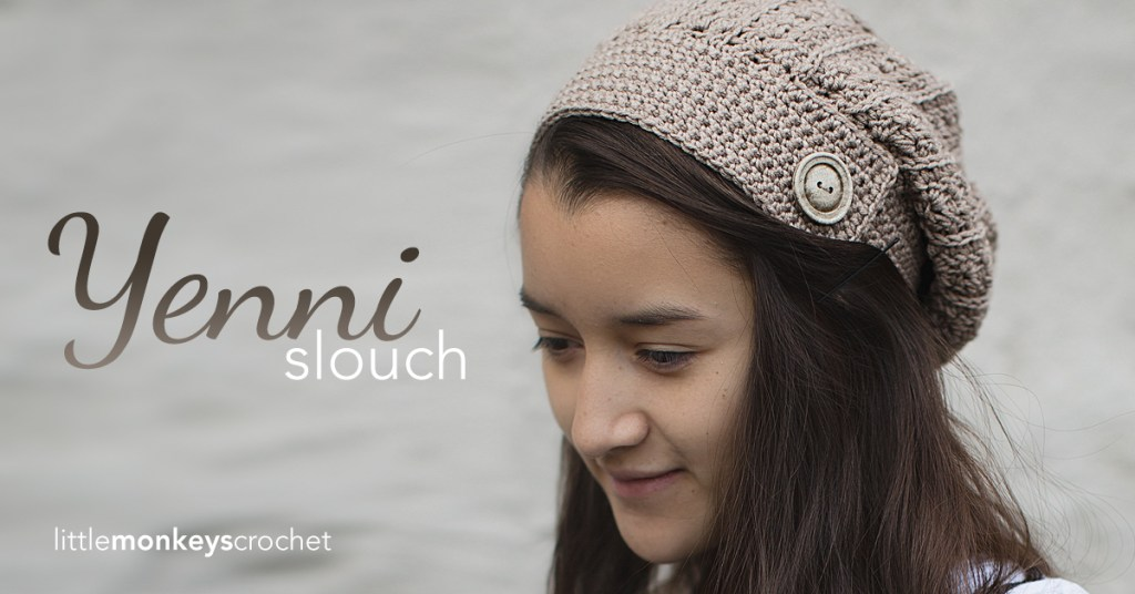 Yenni Slouch Crochet Hat | Free Slouchy Hat Crochet Pattern by Little Monkeys Crochet