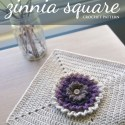 """Zinnia 12"""" Crochet Square (part of the Moogly 2016 CAL)   
