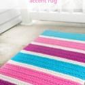 Bubble Gum Accent Rug Crochet Pattern made with Kitchen Cotton yarn from Lion Brand  |  Free crochet pattern by Little Monkeys Crochet