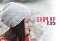 Shiplap Slouch Hat and Cowl Crochet Pattern Set  |  Free slouchy hat and fringe cowl scarf crochet patterns by Little Monkeys Crochet