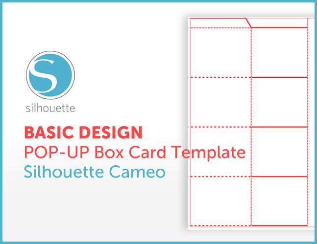 FREE Pop Up Box Card Template for Silhouette Cameo Little Papers