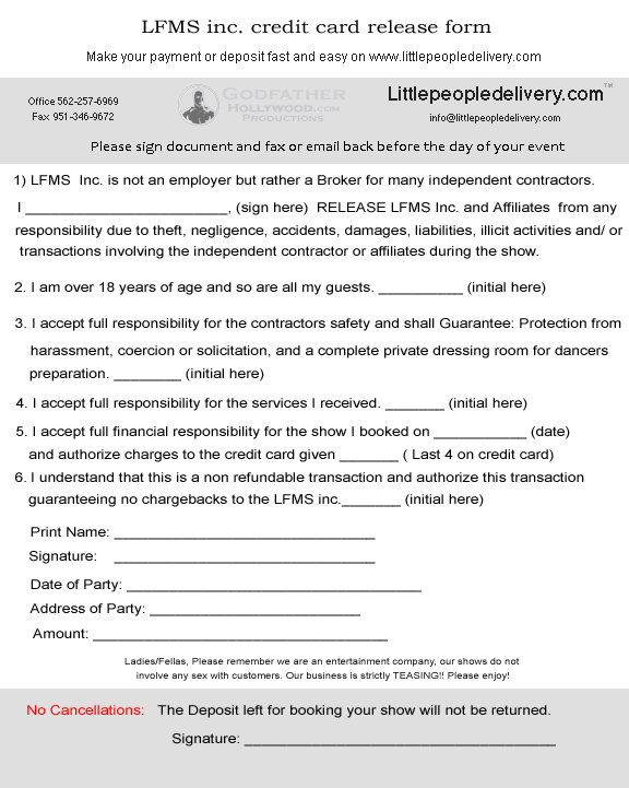 Contract Release Form Sample Contract Release Form  Examples In