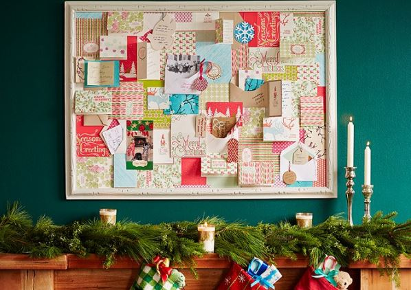 Ways To Display Christmas Cards Diy Greeting Card Display Ideas - Little Piece Of Me