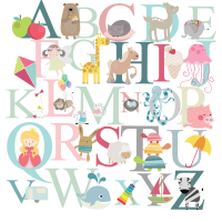alphabet wall stickers 2017 - Grasscloth Wallpaper