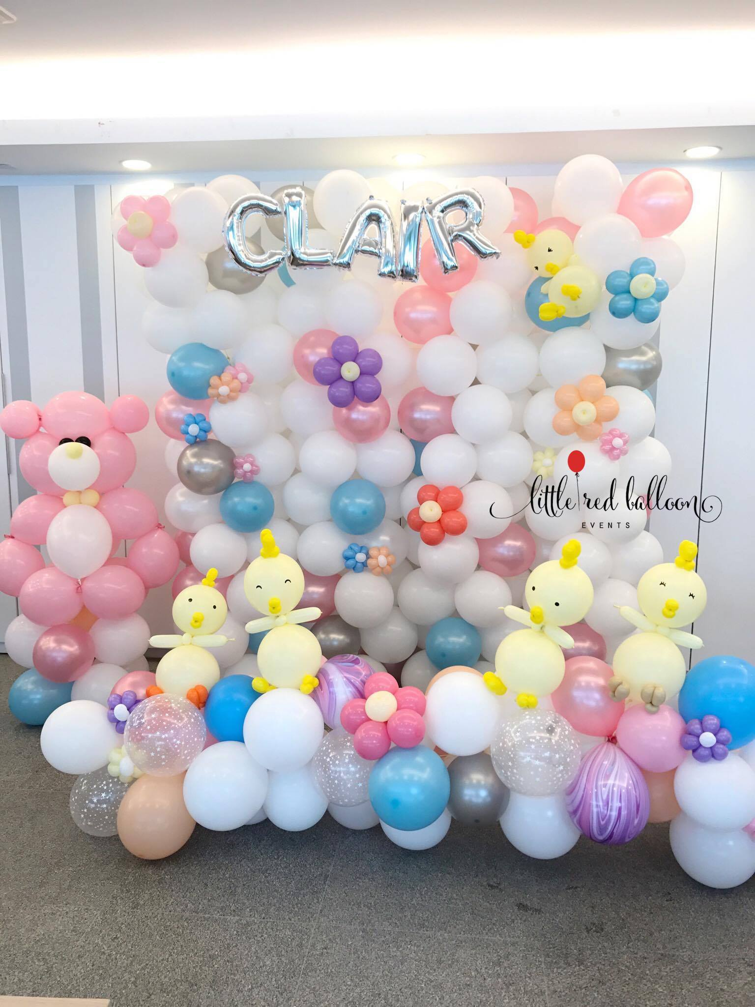 Birthday Balloons Singapore Balloon Backdrops | Little Red Balloon Singapore