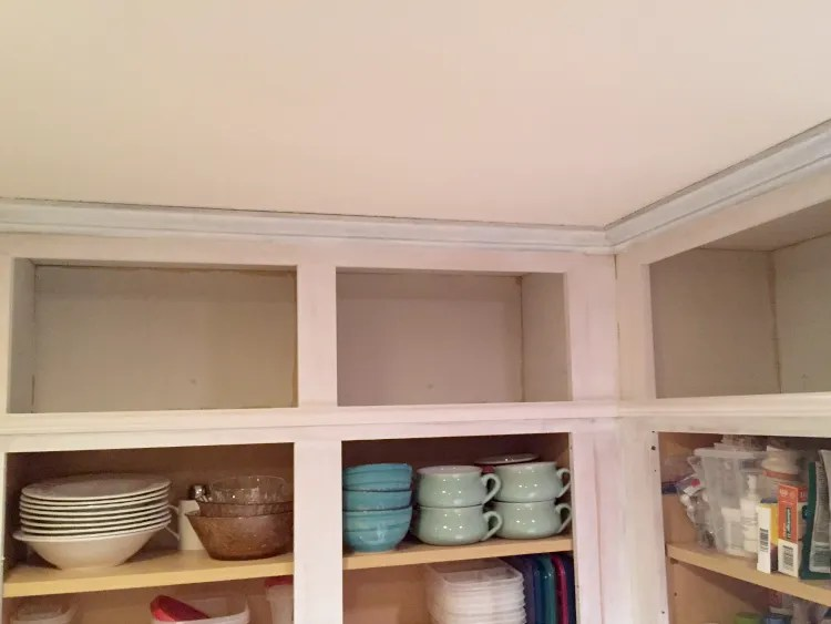 How To Extend Existing Kitchen Island Extending The Cabinets To The Ceiling - {kitchen Makeover