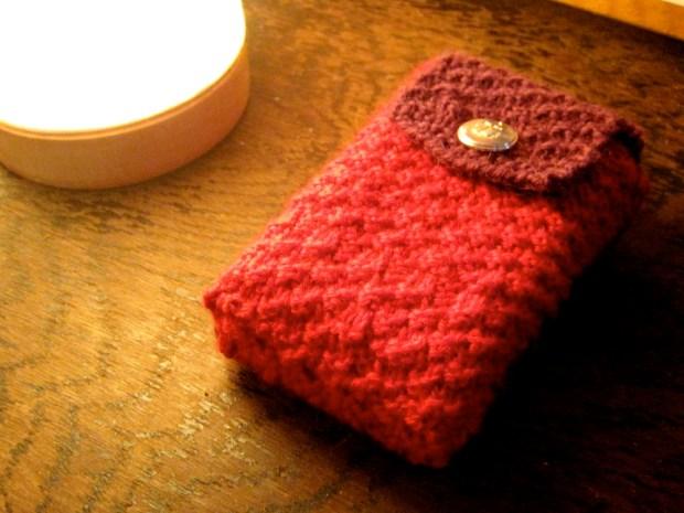 Knit Pattern Tarot Bag : Knitted tarot bag - Little Red Tarot