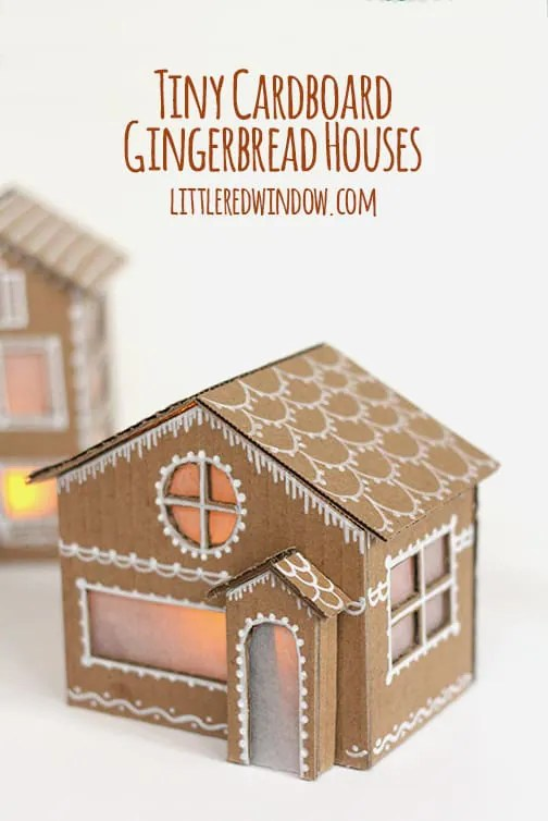 Tiny Cardboard Gingerbread Houses - Little Red Window