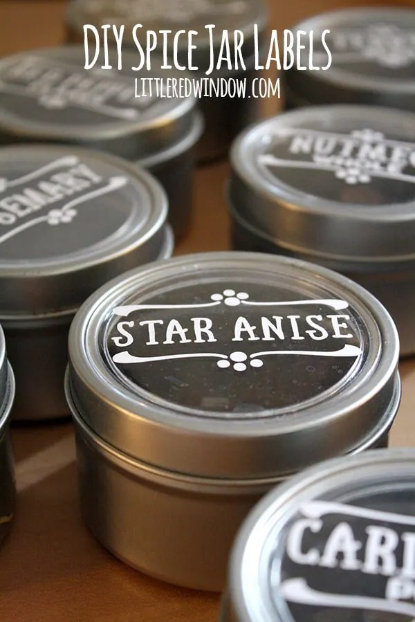 DIY Spice Jar Labels - Little Red Window