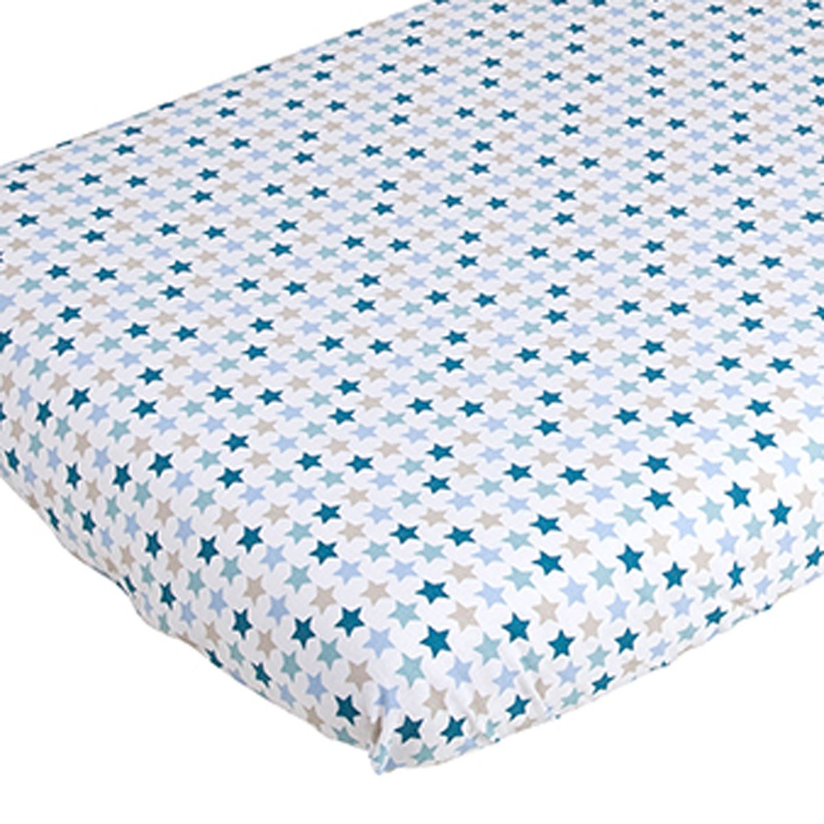 Kinderbettwäsche Mint Spannbettlaken Babybett 120x60 Cm Mixed Stars Mint Von Little Dutch