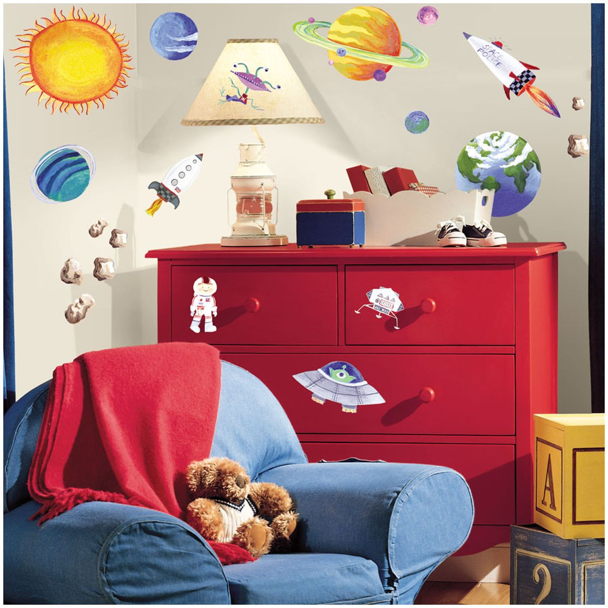 Art For Kids Teppiche Weltraum And Raketen 39outer Space 39 Wandsticker Von Roommates