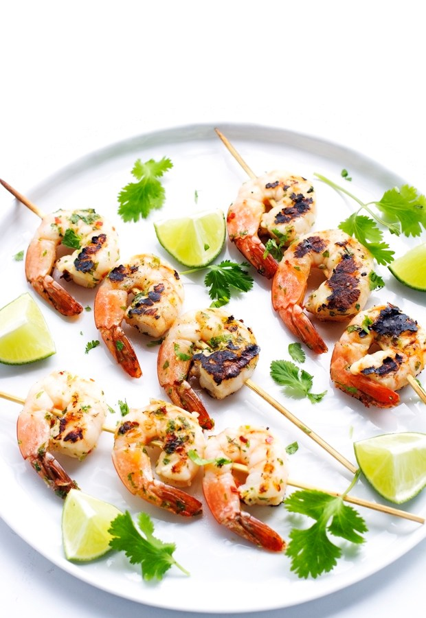 Grilled-Cilantro-Lime-Shrimp-Skewers