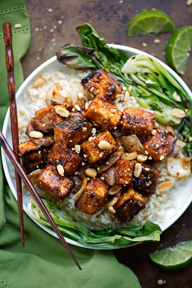 Stir Fry With Peanut Sauce, Quinoa And Tofu Recipe — Dishmaps