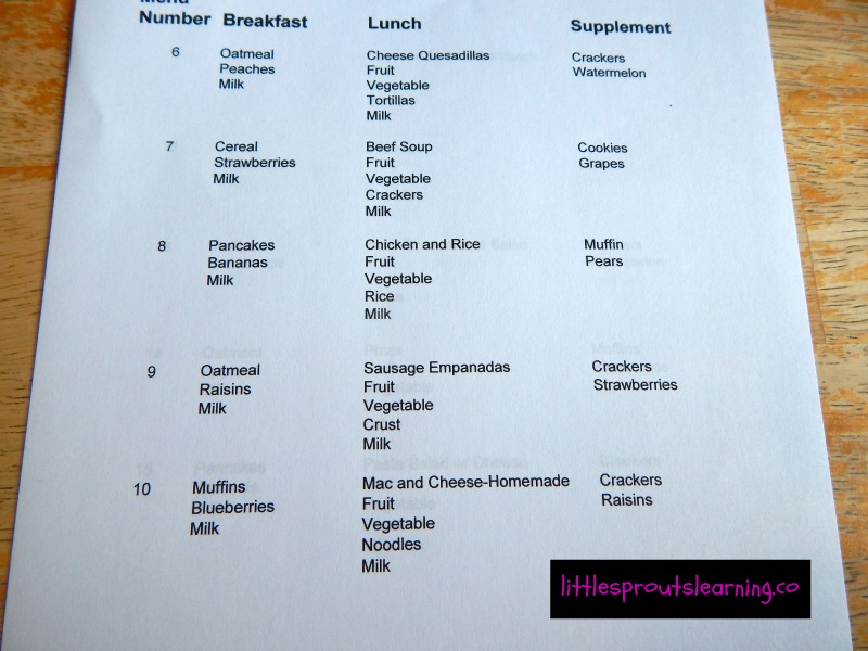 How to Plan a Daycare MENU - daycare meal plan