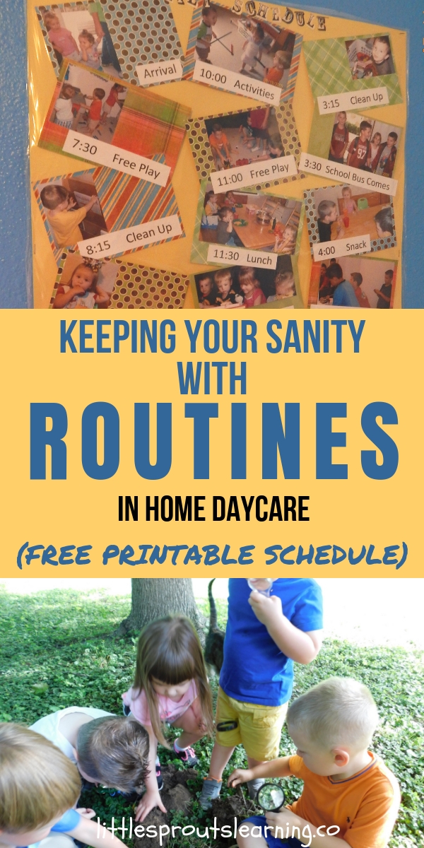 Keeping your Sanity with Routines in Daycare (free printable schedule)