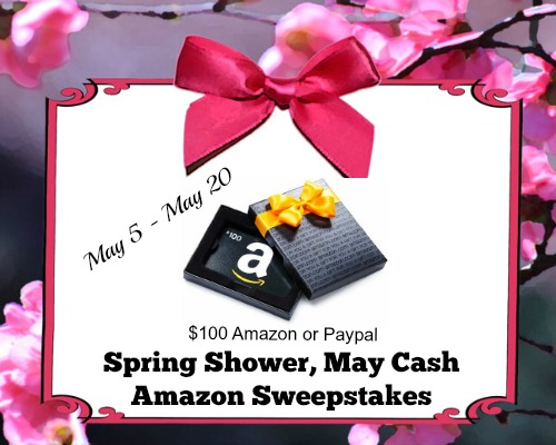 Spring Showers Giveaway: $100 Amazon or Paypal Gift Card