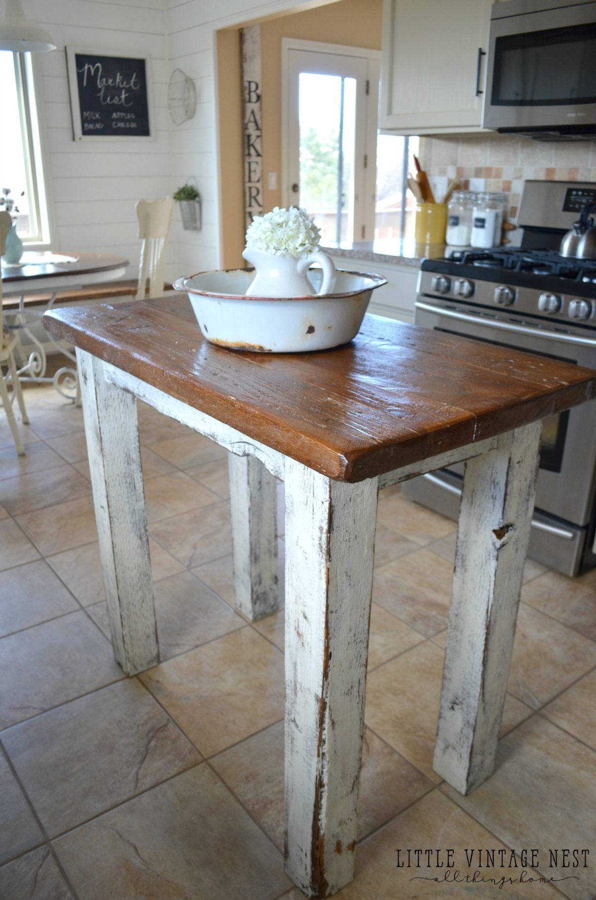 Rustic Stools Kitchens Rustic Kitchen Island Little Vintage Nest