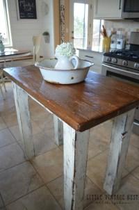 Rustic Kitchen Island - Little Vintage Nest