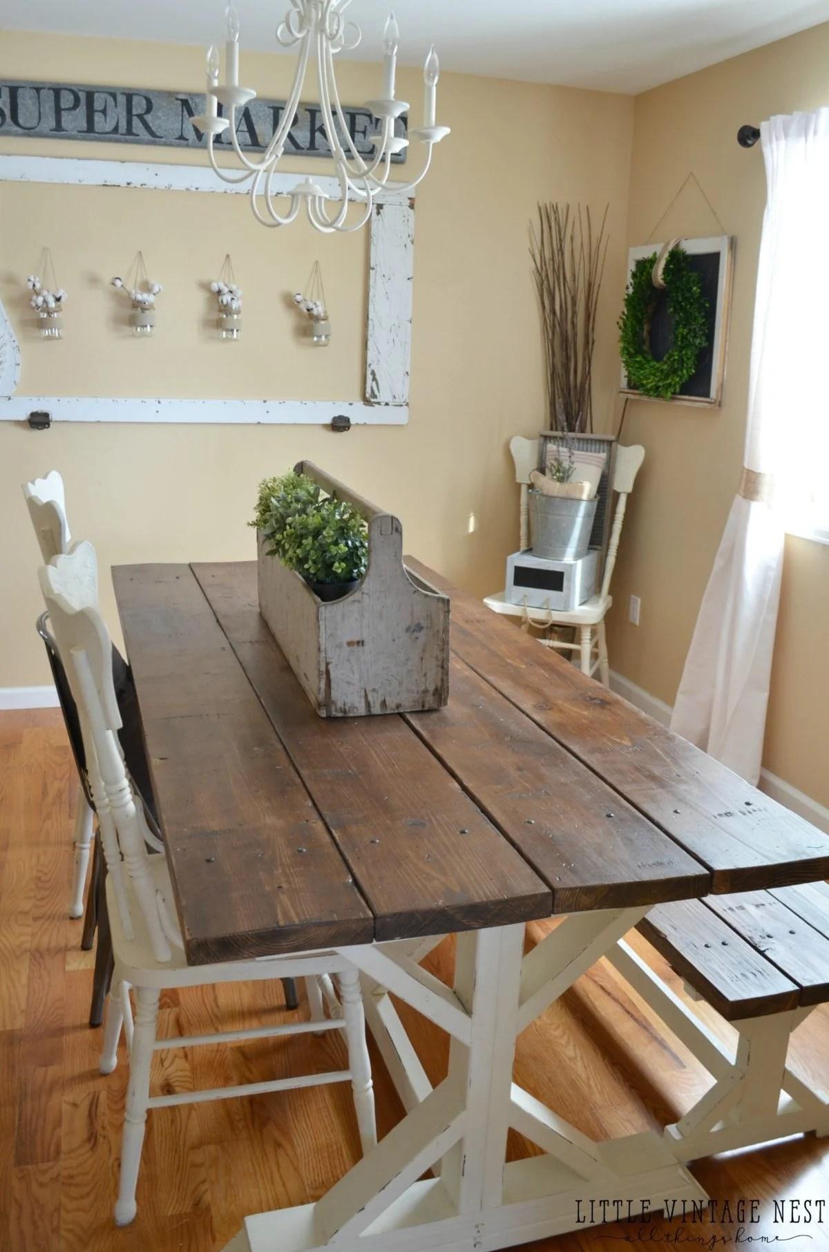 Modern Farmhouse Dining Room Makeover