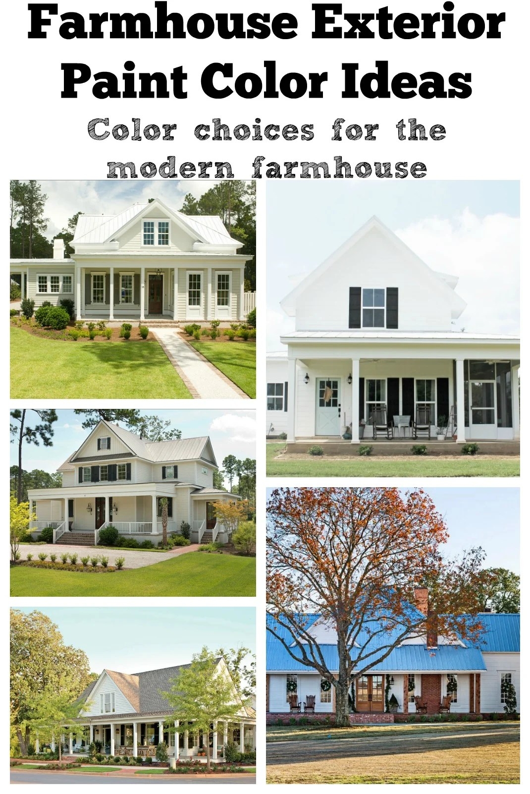 Farmhouse Color Palette Exterior Farmhouse Exterior Paint Color Ideas