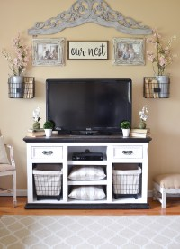 Easy Farmhouse Style TV Stand Makeover - Little Vintage Nest
