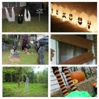 Halloween Roundup | DIY Yard Decorations | littlewillowtree